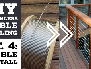 Cheapest DIY Stainless Cable Deck Railing Pt.4: INSTALLATION - Running the cables through the posts