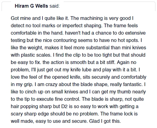braza bro edc mini knife review 10 hiram g wells