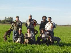 Grupo de halconeros Argentinos