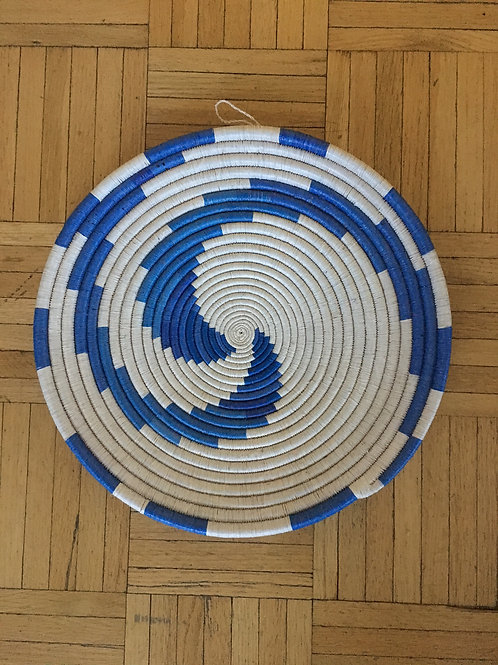 Handwoven Rwandan Wall Hanging/Serving Plate