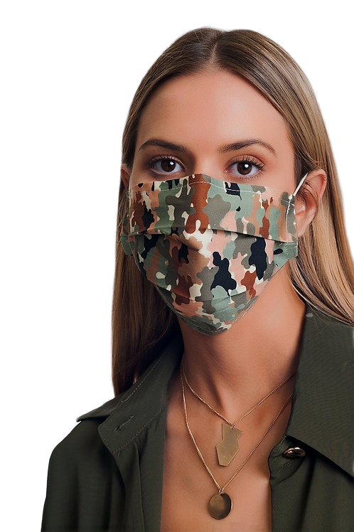 5 PACK Camo Print Mask