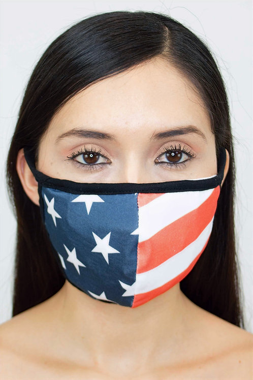 American Flag Print Face Mask