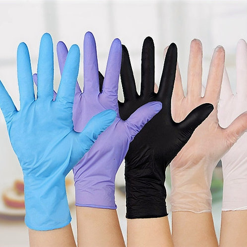 20Ct Disposable Latex Rubber Gloves