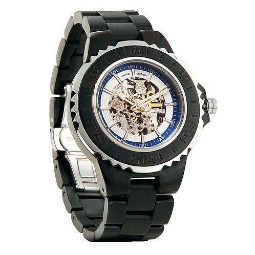 Wilds Genuine Automatic Ebony Wooden Watches No Battery Needed