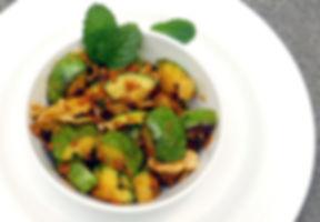calabacitas con chorizo y curry, calabazas, chorizo, menta, curry de Madras, calabacitas con chorizo curry y menta