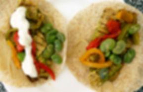 Wrap de verduras asadas, wrap, wrap de verduras, wrap vegetariano, platillo vegetariano, sandwich vegetariano, sandwich de vegetales