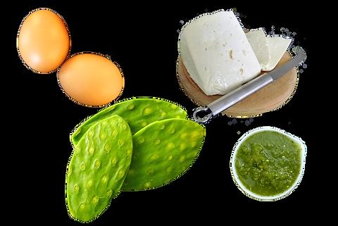 Huevo sobre nopal asado, huvo, huevo con nopal, huvo con quso panela, huevo cn salsa verde