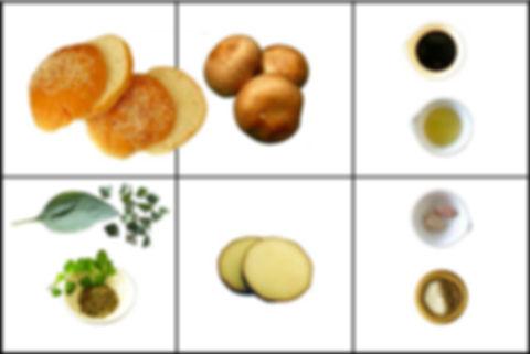 Hamburguesa de portobello una opción vegetariana