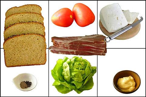 Sándwich de jitomate y tocino