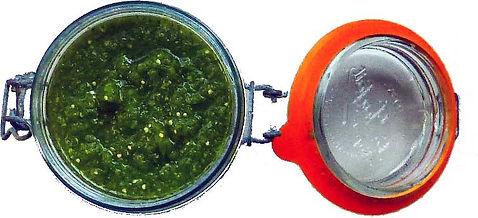 salsa mexicana verde cruda