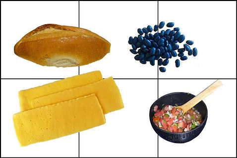 Molletes con salsa mexicana