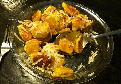 gnocchis de calabaza, ñoquis de calabaza, calabaza, puré de calabaza, calabaza salada, queso parmesano