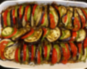 tian de verduras, verduras al horno, berenjenas, calabazas, platillo vegetariano, platillo al horno