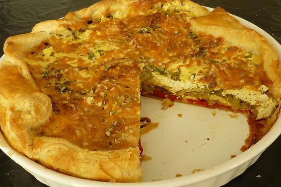 quiche de berenjena, berenjena, calabacita, queso ricotta, platillo fuerte, platillo vegetariano, gratinado