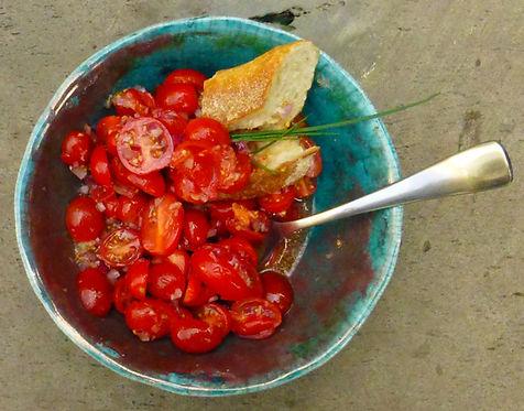 Vinagreta de jitomates cherry