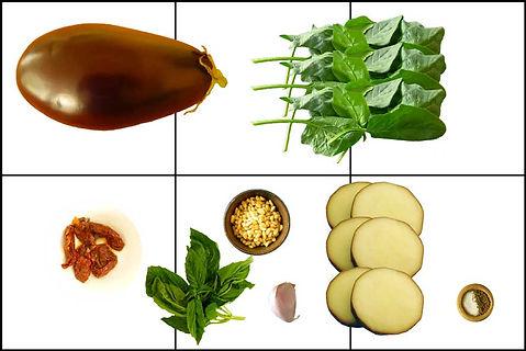 rollos de berenjena, berenjena, espinaca, queso