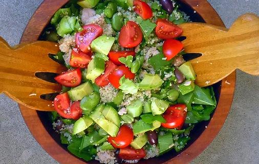 Enasalada italiana de quinoa y habas, ensalada de quinoa, ensalada de habas, ensalada de atún, ensalada, platillo frío,