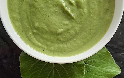 sopa fria de habas y nopales, caldo de verdura, sopa de verduras, sopa vegetariana, entrada, hoja santa