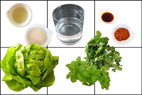 albondigas de carne molida de cerdo con salsa vietnamita