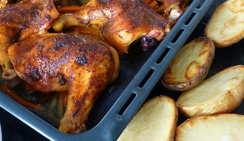 Pollo rostizado al estilo indonesio, pollo, pollo rostizado, piernas de pollo