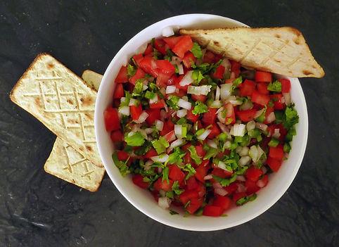 Salsa mexicana, pico de gallo, jitomate, chile cebolla