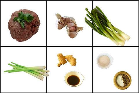 Albóndigas de carne molida de cerdo con salsa vietnamita, albondigas, carne molida, salsa, salsa vietnamita