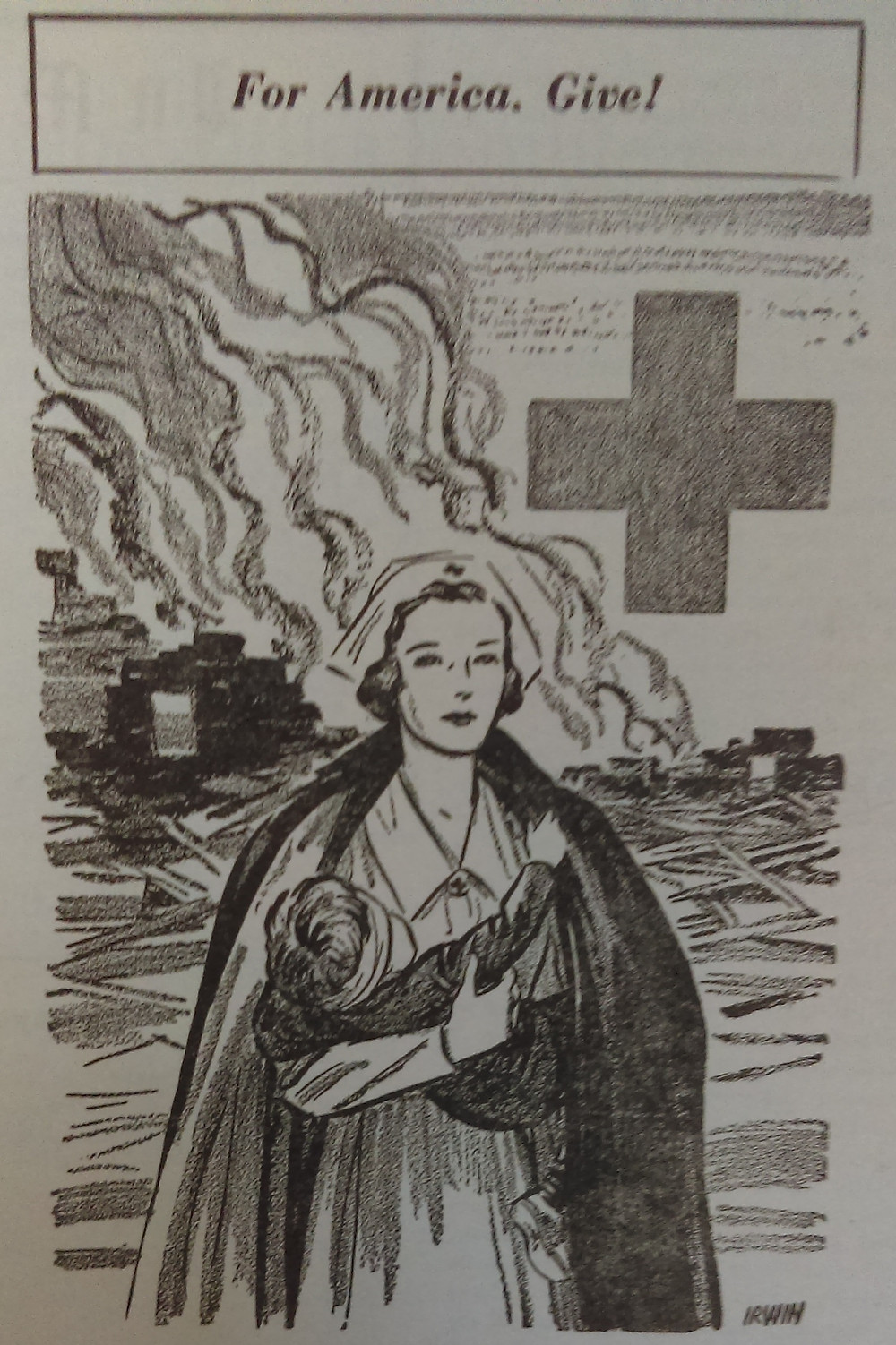 Red Cross ad from the Vasa Star.