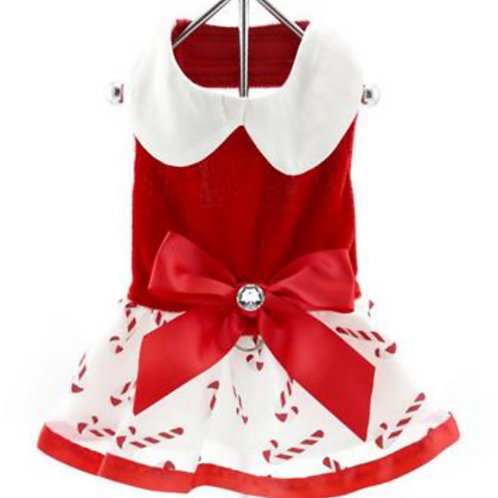 Mrs. Claus Candy Cane Holiday Dress