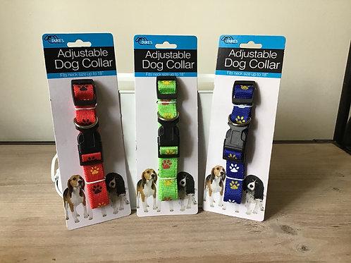 Dukes Adjustable Paw Print Collar