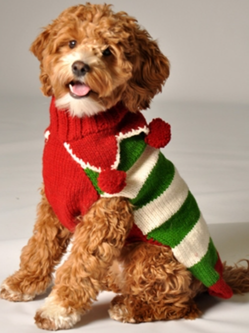 Chilly Dog Christmas Elf Sweater