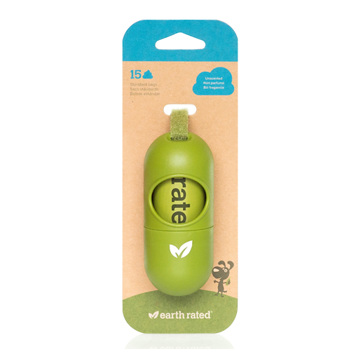 Earth Rated Poop Bag Dispenser w/ 15 Starter Bags