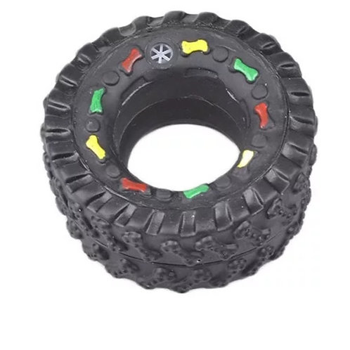 Squeaky Training Pet Tire Toy