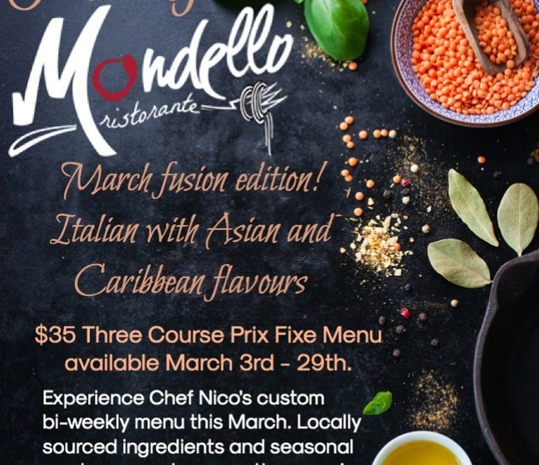 Taste of Mondello March Fusion Edition