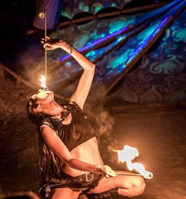 I'm available for private fire eating in