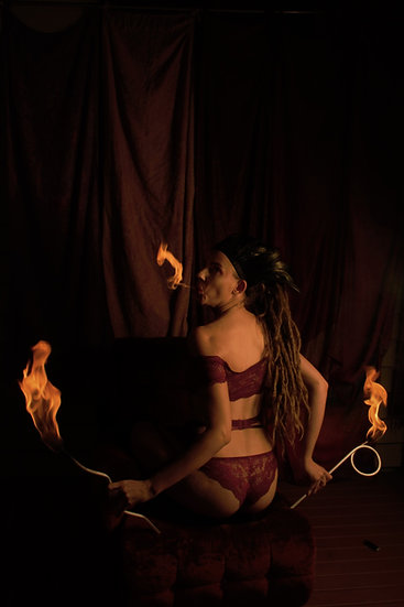 Fire Eating Silly Straw Torches