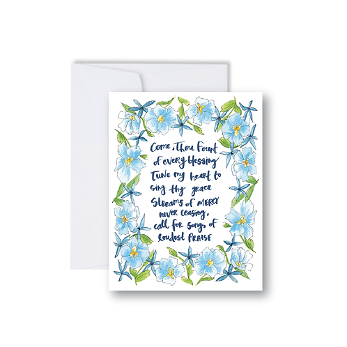 Come Thou Fount Note Card