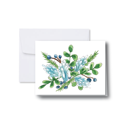 Blue Cluster Note Card