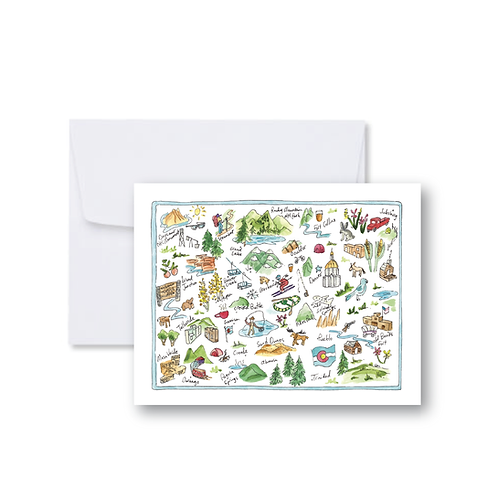 Colorado State Icons Note Card