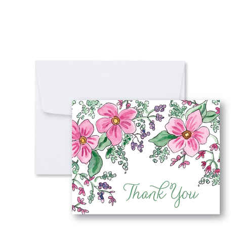 Fresh Floral Thank You Note Card