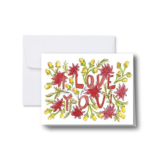 Bright I Love You Note Card