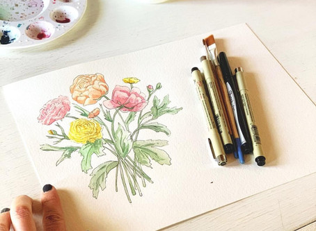 Watercolor Painting - My Go To Materials