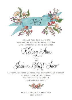 Ray Wedding Invite