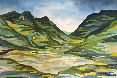 Glencoe Mountains on Canvas