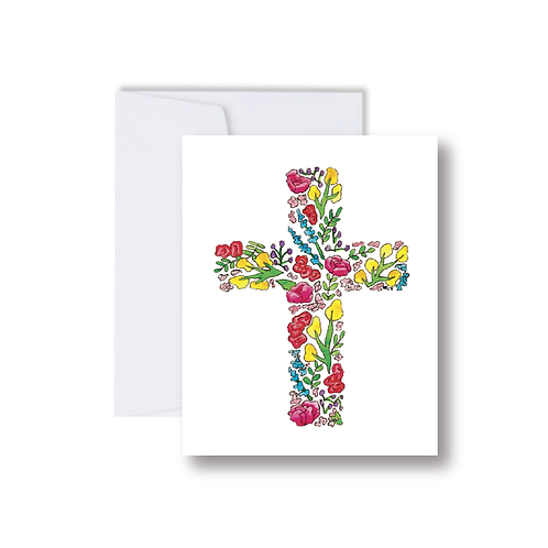 Floral Cross - Note Cards