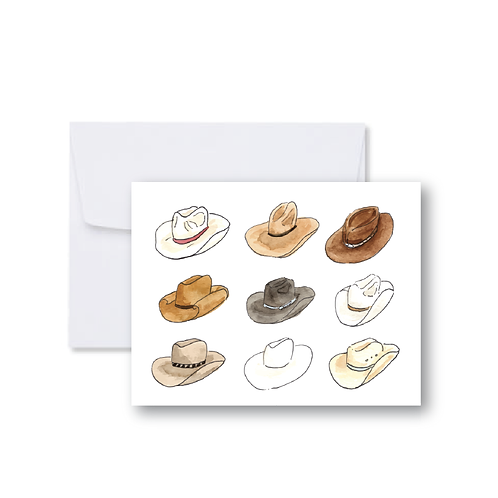Cowboy Hat Collage Note Card
