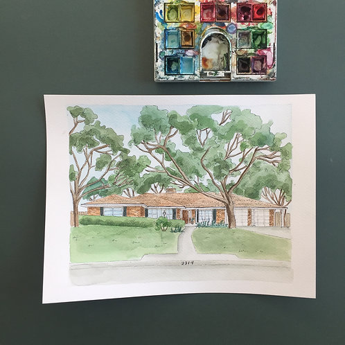 Custom Architecture Watercolor Rendering OR Other Miscellaneous Painting