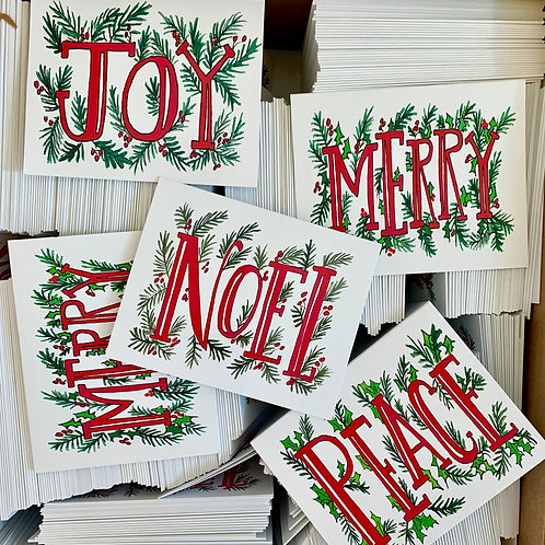 Pack of 25 Christmas Cards (assorted)