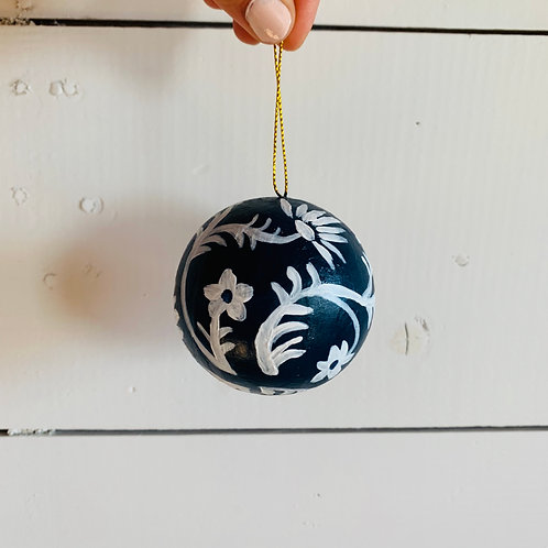 Navy Blue & White Ornament (#1)