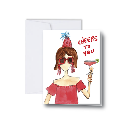 Cheers to You Note Card