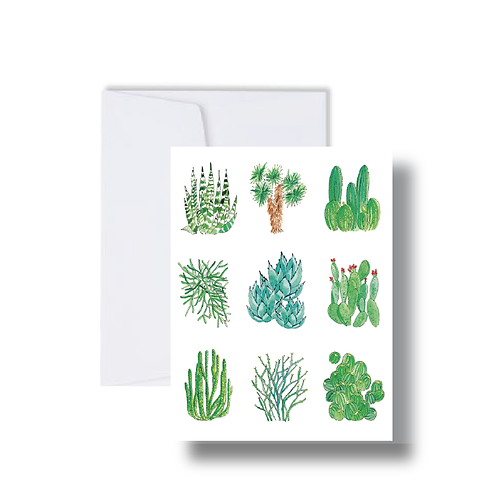Cactus Collage - Note Cards